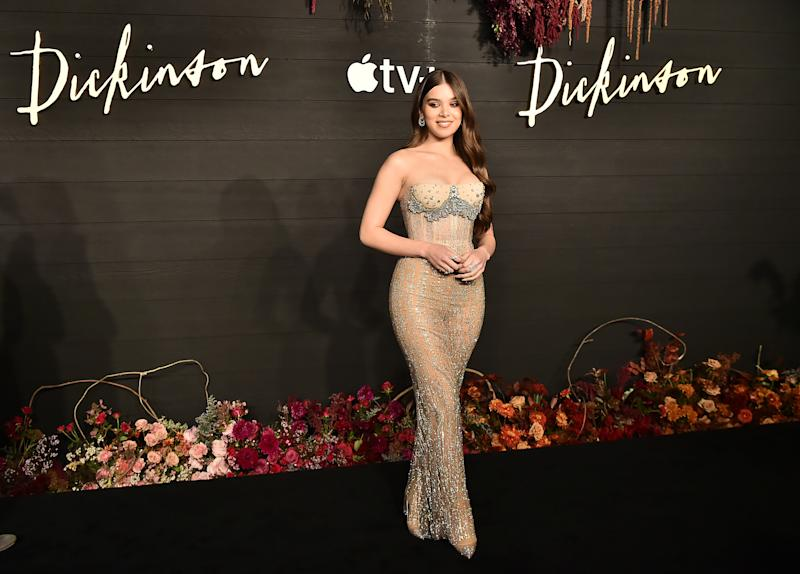 "NEW YORK, NEW YORK - OCTOBER 17: Hailee Steinfeld attends Apple's Global Premiere for ""Dickinson"" on October 17, 2019 in Brooklyn, New York. ""Dickinson"" debuts on Apple TV+, the first all-original video subscription service, on November 1. (Photo by Theo Wargo/Getty Images for Apple TV+)"