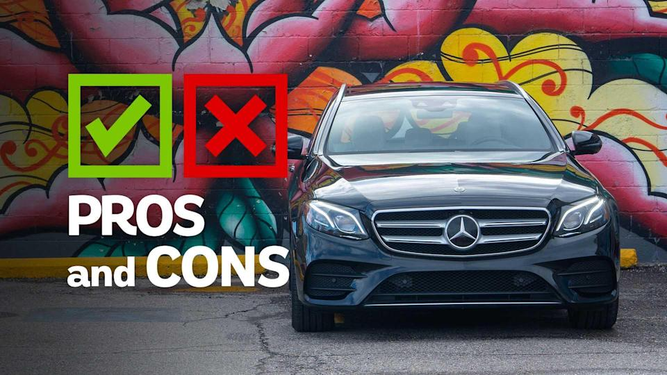 """<p>Say what you will about Europe, but when it comes to vehicles, the continent mostly has its stuff in order. Sure, <a href=""""https://www.motor1.com/body-styles/suv-crossover/?utm_campaign=yahoo-feed"""" rel=""""nofollow noopener"""" target=""""_blank"""" data-ylk=""""slk:crossovers"""" class=""""link rapid-noclick-resp"""">crossovers</a> are surging in popularity, but the humble <a href=""""https://www.motor1.com/body-styles/wagon/?utm_campaign=yahoo-feed"""" rel=""""nofollow noopener"""" target=""""_blank"""" data-ylk=""""slk:station wagon"""" class=""""link rapid-noclick-resp"""">station wagon</a> remains a viable and popular option for families, thanks to the huge variety in both available models and sizes. One of Europe's premiere wagons is the <a href=""""https://www.motor1.com/mercedes-benz/e-class-wagon/?utm_campaign=yahoo-feed"""" rel=""""nofollow noopener"""" target=""""_blank"""" data-ylk=""""slk:Mercedes-Benz E-Class"""" class=""""link rapid-noclick-resp"""">Mercedes-Benz E-Class</a>, a five-door we only see in the United States as the (not-long-for-this-world) E450 and the fire-breathing <a href=""""https://www.motor1.com/mercedes-benz/amg-e63-wagon/?utm_campaign=yahoo-feed"""" rel=""""nofollow noopener"""" target=""""_blank"""" data-ylk=""""slk:AMG E63"""" class=""""link rapid-noclick-resp"""">AMG E63</a>.</p> <p>As is the case with most of our interactions with the E-Class Wagon, we're left scratching our head at why these vehicles are so rare. It's nearly as spacious as a <a href=""""https://www.motor1.com/mercedes-benz/gle-class/?utm_campaign=yahoo-feed"""" rel=""""nofollow noopener"""" target=""""_blank"""" data-ylk=""""slk:Mercedes-Benz GLE-Class"""" class=""""link rapid-noclick-resp"""">Mercedes-Benz GLE-Class</a>, both in terms of passenger and cargo volume. But the E450 is also more attractive and both easier and more enjoyable to drive, particularly in tight confines. That it stands out from the crowd certainly doesn't hurt matters.</p> <ul><li><a href=""""https://www.motor1.com/reviews/308487/2018-mercedes-amg-e63s-wagon-review/?utm_campaign=yahoo-feed"""" rel=""""nofollow noopener"""" target=""""_bla"""