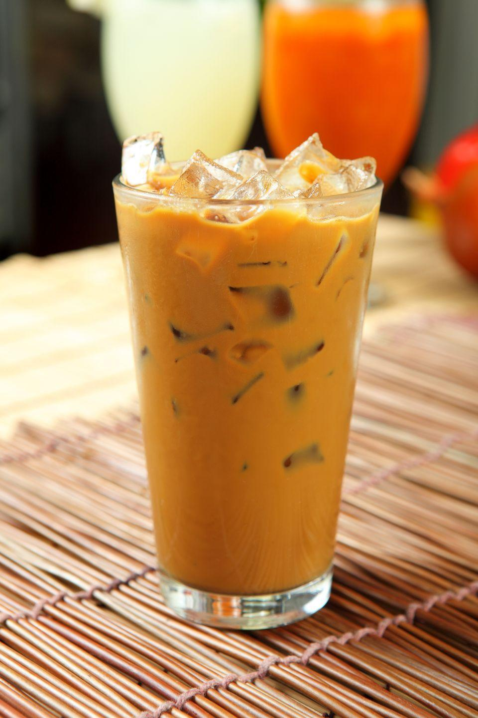 "<p>A sweet and intense version of iced coffee, this drink typically combines fresh French roast coffee made with a Vietnamese coffee maker and sweetened condensed milk over ice. </p><p><strong>Pro tip:</strong> You can also prepare your own version with a different brew method (like a French press or moka pot) and different beans, so long as the brew is still strong.<strong><br></strong></p><p><em><a href=""https://whiteonricecouple.com/recipes/vietnamese-iced-coffee-recipe/"" rel=""nofollow noopener"" target=""_blank"" data-ylk=""slk:Get the recipe for Vietnamese Iced Coffee from White on Rice Couple »"" class=""link rapid-noclick-resp"">Get the recipe for Vietnamese Iced Coffee from White on Rice Couple »</a></em></p>"