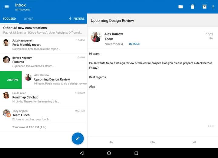 Outlook Chrome OS