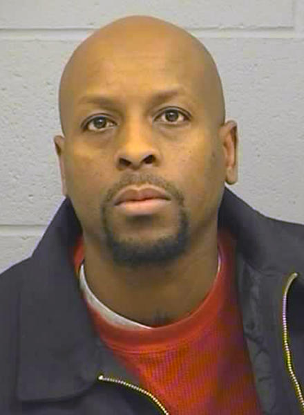 FILE--In this Feb. 26, 2016, booking file photo provided by the Harvey County Sheriff's Office shows Cedric Ford. The families of victims in a 2016 mass shooting in central Kansas have won a $2 million settlement from the now-defunct pawn shop that sold the guns to the shooter, Cedric Ford's girlfriend, Sarah Hopkins. The settlement of three lawsuits in Harvey County District Court was announced Wednesday by Brady, a national center against gun violence. Victims' families argued that the pawn shop should have known that shooter's girlfriend was a straw buyer. (Harvey County Sheriff's Office via AP)