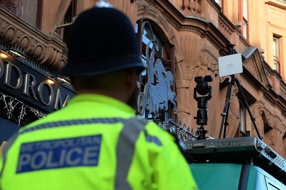 Facial recognition technology has been used in London (Picture: PA)