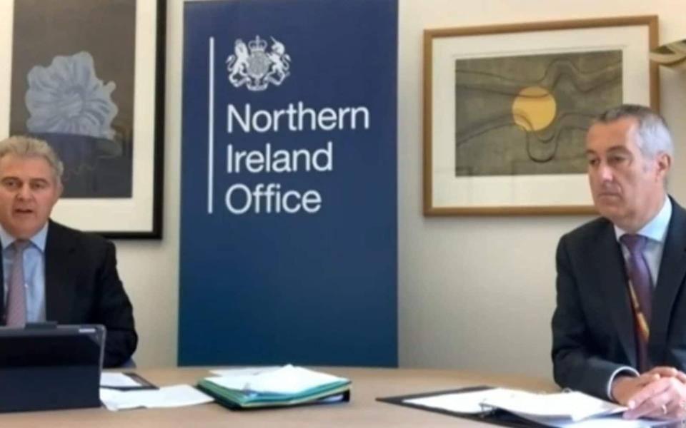 Colin Perry (R) was accused of misrepresenting NI businesses - PA
