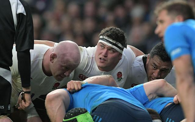 <span>Jamie George is England's 'finisher' at hooker</span> <span>Credit: REX FEATURES </span>