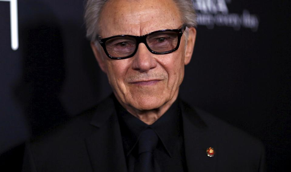 """Cast member Harvey Keitel poses at the premiere of """"Youth"""" at Directors Guild of America in Los Angeles, California November 17, 2015. The movie opens in the U.S. on December 4.  REUTERS/Mario Anzuoni"""