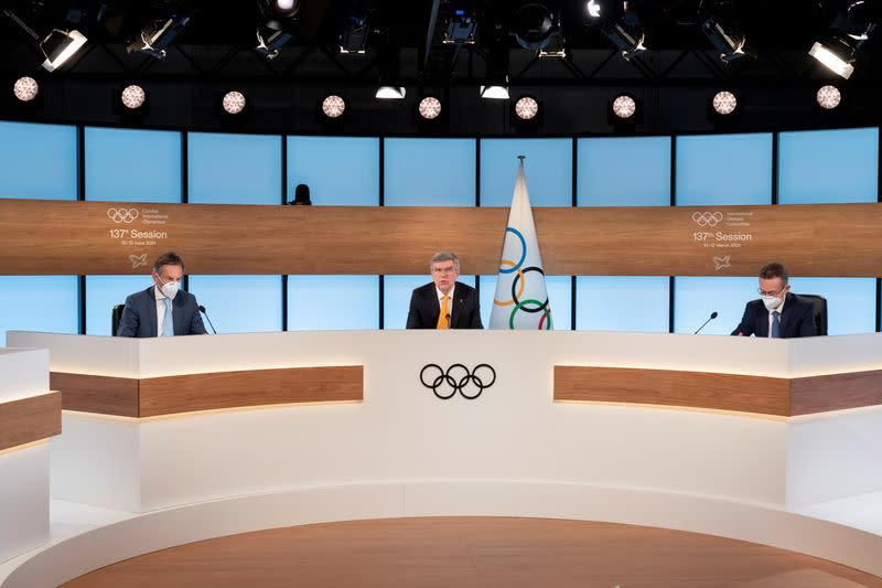 IOC President Bach opens the 137th IOC Session and virtual meeting in Lausanne