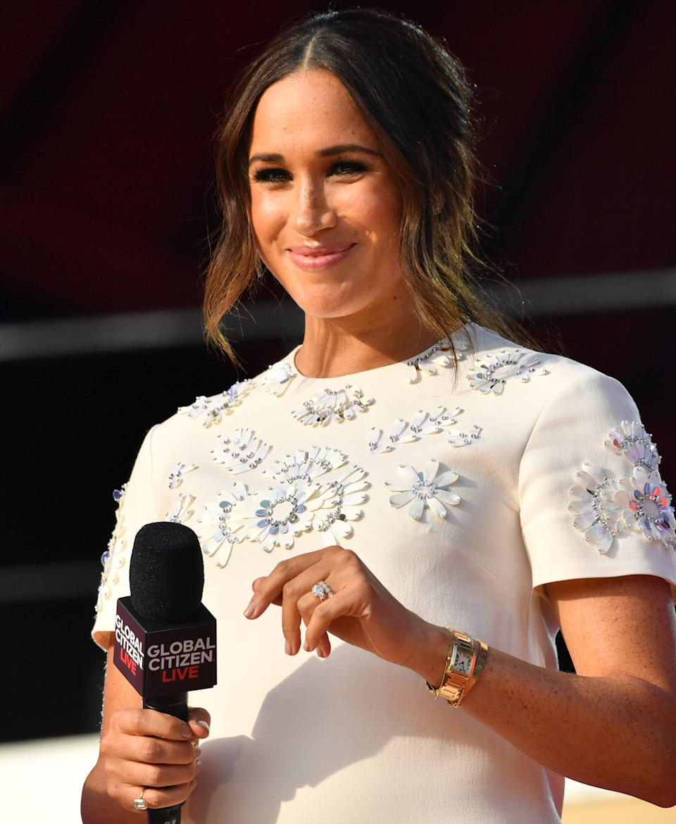 Meghan Markle onstage at Global Citizen Live in New York