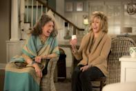 <p> Comedy vets Jane Fonda and Lily Tomlin headline this superbly bingeable sitcom about two women whose ongoing rivalry comes to a head when their husbands reveal they&#x2019;re in love and want divorces. While Grace (Fonda) and Frankie (Tomlin) try to navigate this life-changing revelation alone, they fast become frenemies who wind up sharing a beach house. Throw in their four kids and their newly-married husbands, and what you&#x2019;re left with is a modern living situation. What starts as an amusing premise over the seasons sprawls into a ripe comedy setup that&#x2019;s all about figuring out life, love, career, health, no matter your age, and how our friends are the one thing we can always rely on. </p> <p> Don&#x2019;t dismiss this as that show your mom probably watches. Fonda and Taylor might be in their &#x2018;70s and 80s but that doesn&#x2019;t make them, or their razor-sharp humour, out of bounds for anyone who isn&#x2019;t. This is brilliantly savvy writing boosted by its lead performances. That also includes Sam Waterson and Martin Sheen as Grace and Frankie&#x2019;s former husbands, and June Diane Raphael, Brooklyn Decker, Ethan Embry and Baron Vaughn as their four grown kids.&#xA0; </p>