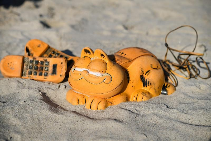"The dry-witted and prickly cat ""Garfield"" was first created by Jim Davis as a comic strip in the late 1970s, before being turned in to a television show and later a movie (AFP Photo/Fred TANNEAU)"
