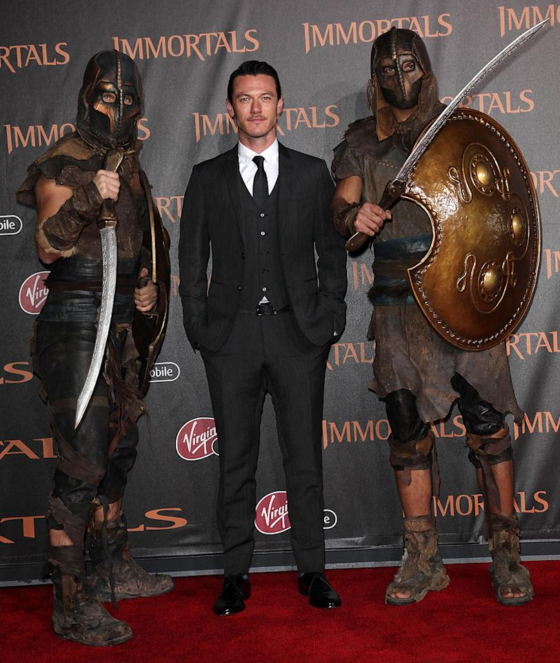 "<a href=""http://movies.yahoo.com/movie/contributor/1808847449"">Luke Evans</a> at the Los Angeles premiere of <a href=""http://movies.yahoo.com/movie/1810150710/info"">Immortals</a> on November 7, 2011."