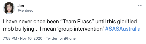 Another said they were now firmly on Team Firass. Photo: Twitter