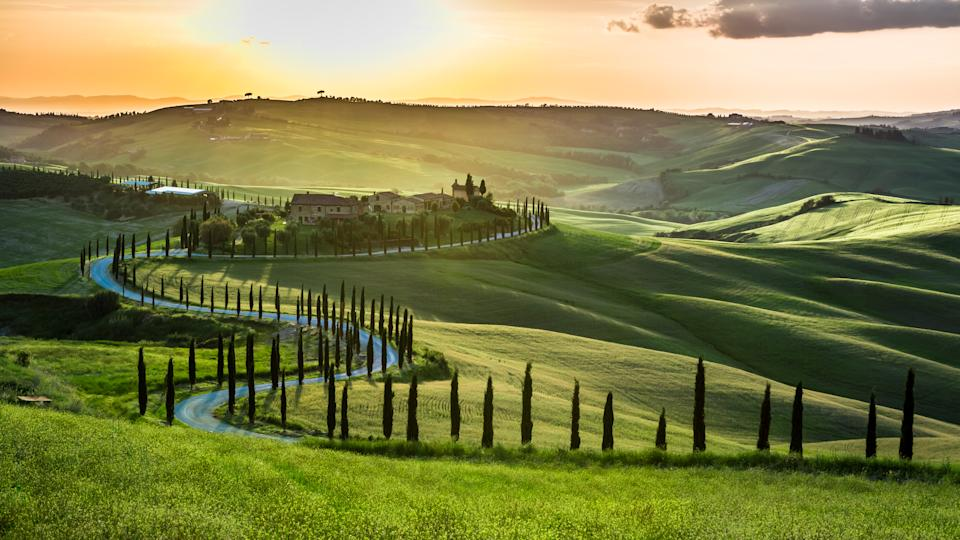 Escape to Tuscany for cheese and wine. [Photo: Getty]