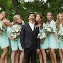 """<p>Putting on a silly face for her friend's wedding picture while posing in a mint green dress. <i>(Instagram/<a rel=""""nofollow noopener"""" href=""""https://www.instagram.com/brooklyndecker/"""" target=""""_blank"""" data-ylk=""""slk:brooklyndecker"""" class=""""link rapid-noclick-resp"""">brooklyndecker</a>)</i></p>"""