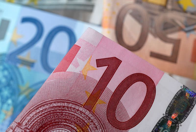 FILE PHOTO: A picture illustration of euro banknotes