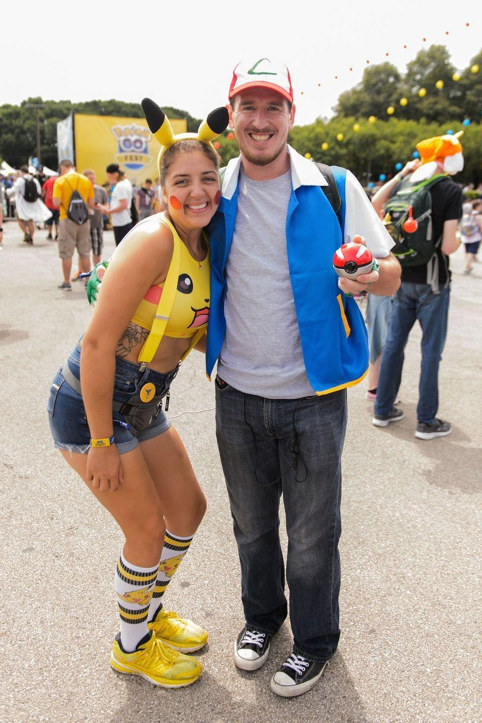 """<p>If you want your costume to be the very best, then you've got to go with Ash Ketchum and his adorable sidekick Pikachu from <em>Pokémon</em>. </p><p><a class=""""link rapid-noclick-resp"""" href=""""https://www.amazon.com/Pok%C3%A9mon-Pikachu-Plush-Headband-Halloween/dp/B07HPF7K75?tag=syn-yahoo-20&ascsubtag=%5Bartid%7C10070.g.2683%5Bsrc%7Cyahoo-us"""" rel=""""nofollow noopener"""" target=""""_blank"""" data-ylk=""""slk:SHOP PIKACHU EARS"""">SHOP PIKACHU EARS</a></p><p><a class=""""link rapid-noclick-resp"""" href=""""https://www.amazon.com/Pok%C3%A9mon-Ketchum-Embroidered-Unisex-adult-One-size/dp/B01EPA1PU4?tag=syn-yahoo-20&ascsubtag=%5Bartid%7C10070.g.2683%5Bsrc%7Cyahoo-us"""" rel=""""nofollow noopener"""" target=""""_blank"""" data-ylk=""""slk:SHOP RED HAT"""">SHOP RED HAT</a></p>"""