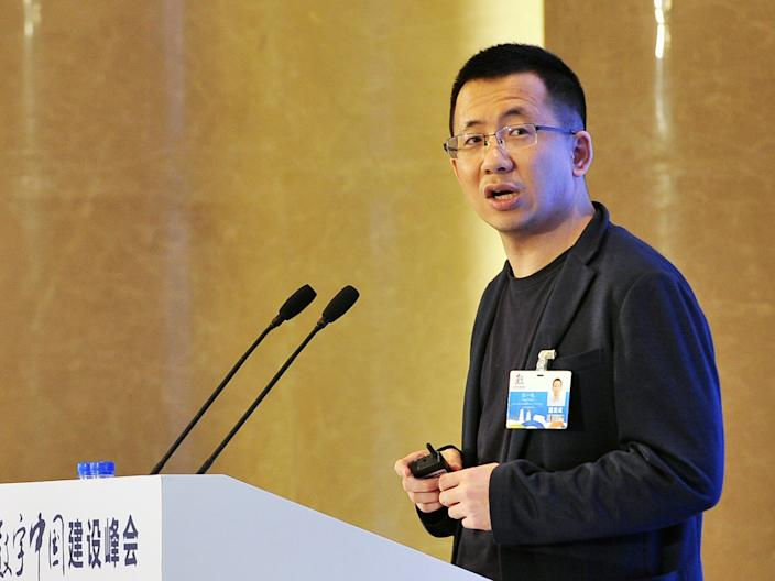 Zhang Yiming bytedance