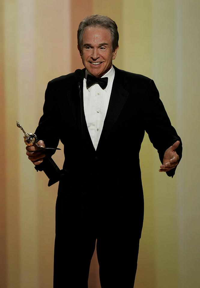 "<a href=""/warren-beatty/contributor/31173"">Warren Beatty</a> gives Clint and Jack a hard time and promises he'll make more movies during his acceptance speech at <a href=""/the-64th-annual-golden-globe-awards/show/40075"">the 64th annual Golden Globe Awards</a>."