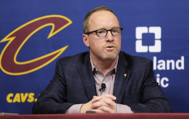 "Former Cavaliers GM David Griffin would have traded <a class=""link rapid-noclick-resp"" href=""/nba/players/4840/"" data-ylk=""slk:Kyrie Irving"">Kyrie Irving</a>, too, but he knows that doesn't mean he would've won the deal. (AP)"