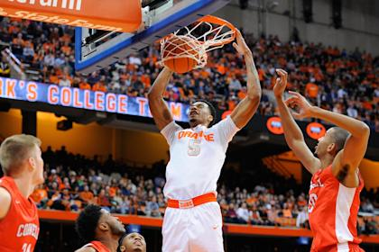 Chris McCullough dunks during a December game. (Getty)