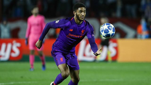 Joe Gomez will not be available when Liverpool play Bayern Munich in the first leg of their last-16 Champions League tie.