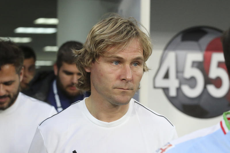 Pavel Nedved during the Partita Del Cuore 2019 charity football match at Allianz Stadium on May 27, 2019 iin Turin, Italy. (Photo by Massimiliano Ferraro/NurPhoto via Getty Images)