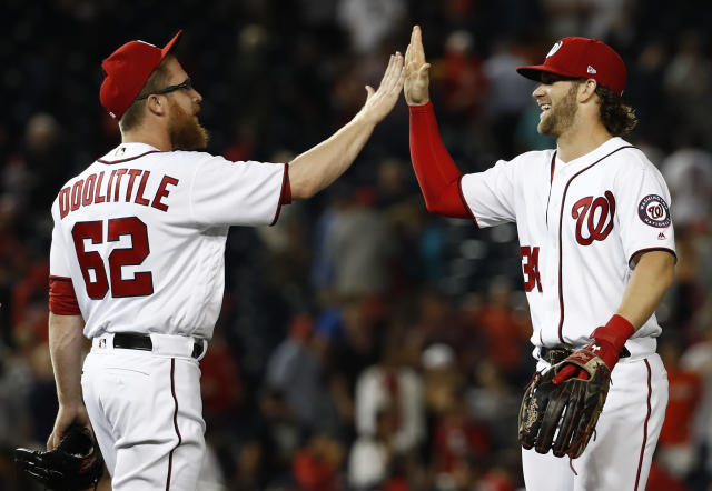 Sean Doolittle has solidified the back end of the Nationals' bullpen. (AP Photo/Carolyn Kaster)