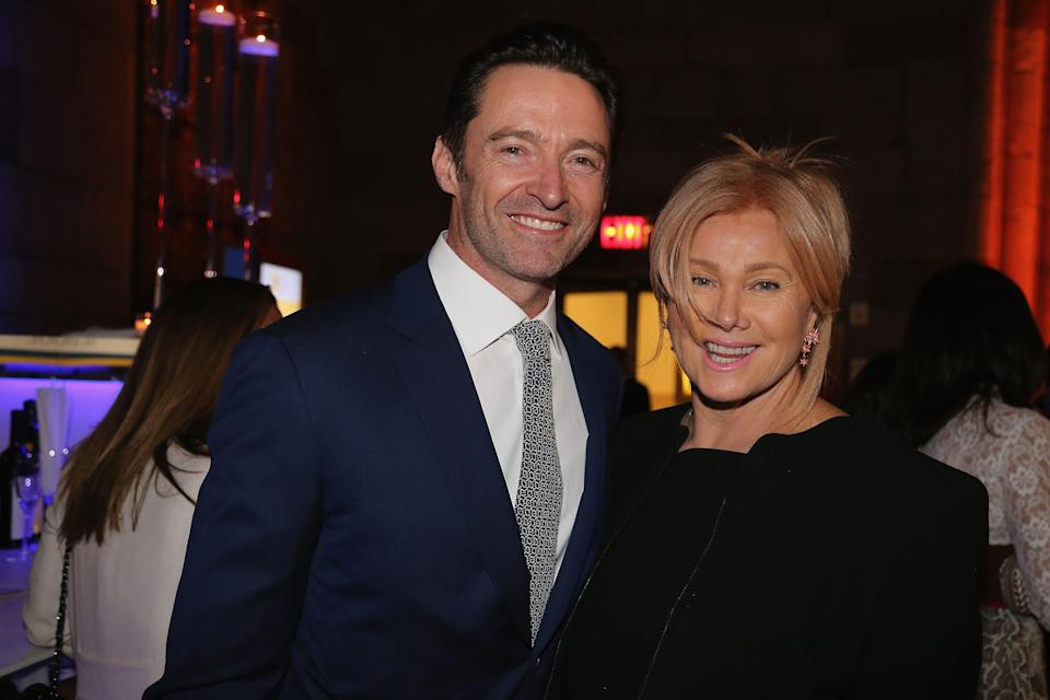 NEW YORK, NY - MARCH 10:  Hugh Jackman and his wife, Deborra-Lee Furness, attend The 2018 Windward School Benefit at Cipriani 42nd Street on March 10, 2018 in New York City. The Windward School specializes in educating students with dyslexia and language-based learning disabilities.  (Photo by Al Pereira/Getty Images)