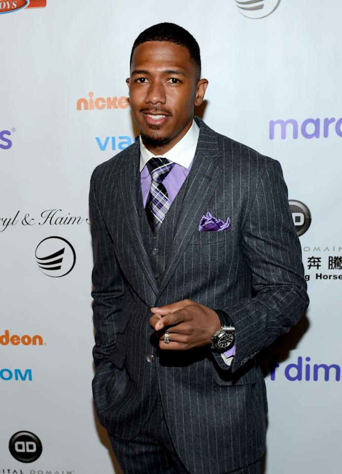 BEVERLY HILLS, CA - DECEMBER 07:  Master of Ceremonies Nick Cannon attends the 7th Annual March of Dimes Celebration of Babies, a Hollywood Luncheon, at the Beverly Hills Hotel on December 7, 2012 in Beverly Hills, California.  (Photo by Michael Buckner/Getty Images For March Of Dimes)