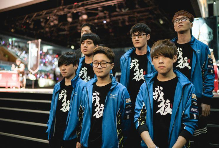 The Flash Wolves at the 2016 MSI opening ceremonies (Riot Games/lolesports)