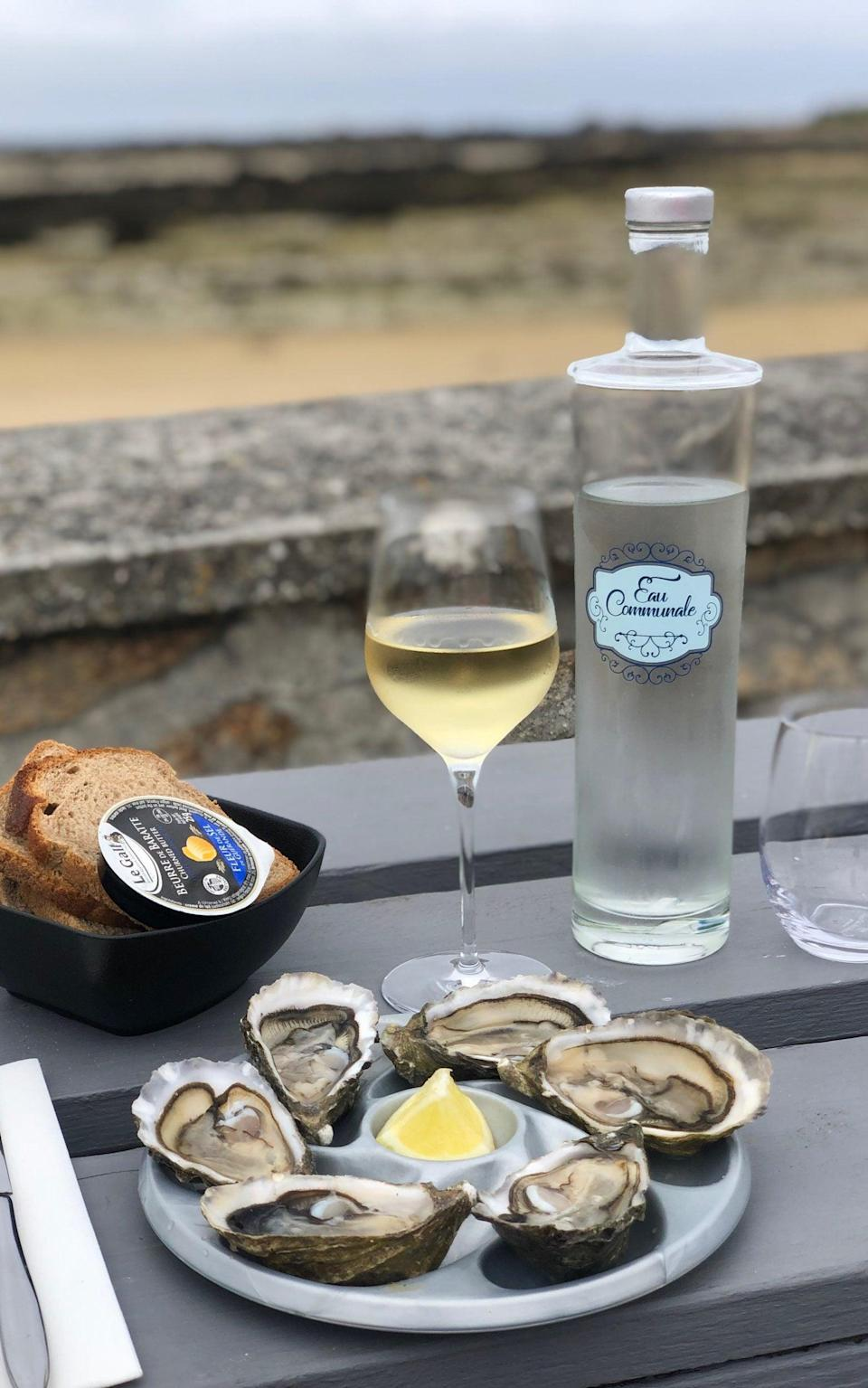 Oysters and wine from Maison Legris - Nicola Williams