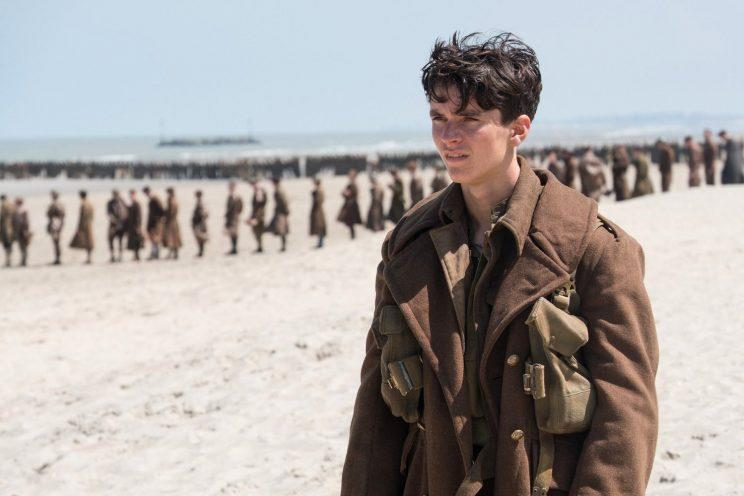 Fionn Whithead in 'Dunkirk'
