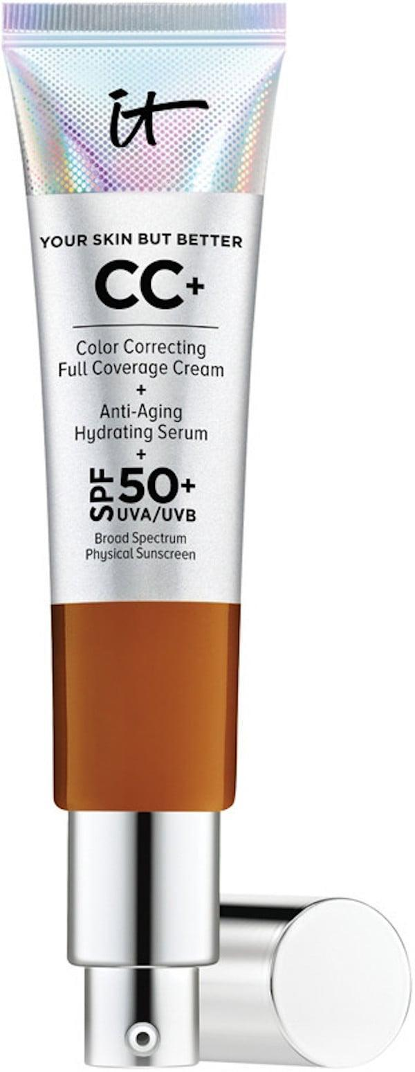 <p>A cult-favorite, the <span>IT Cosmetics Your Skin But Better CC+ Cream with SPF 50+</span> ($39) is one of the only products of its kind because it provides lightweight, full coverage. Yes, we said full coverage.</p>