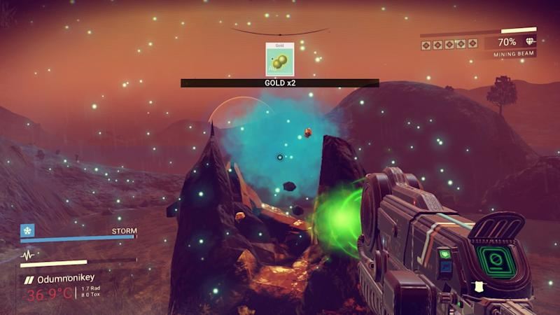 Mining for gold. (Sony/Hello Games)