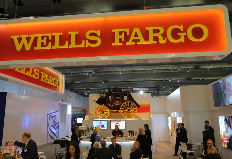 A Wells Fargo stagecoach is seen at the SIBOS banking and financial conference in Toronto