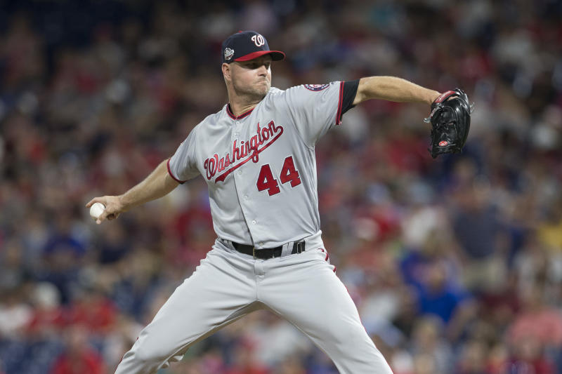 Dodgers add Ryan Madson to struggling bullpen in trade with Nationals