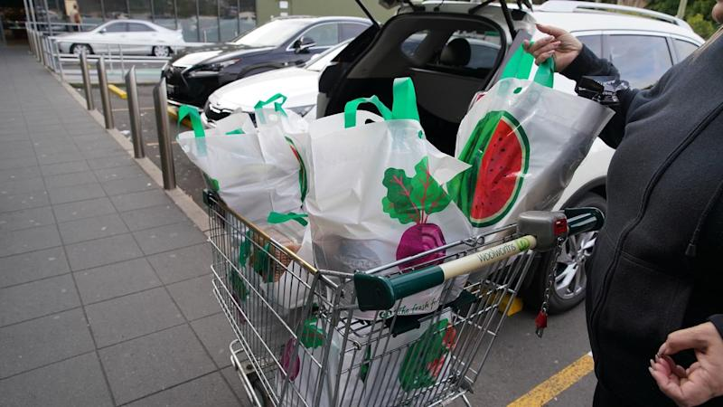 Victorian authorities say people should have no more than a two-week supply of food over COVID-19