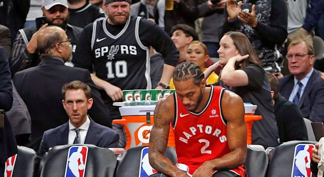 Kawhi Leonard will forever be a villain in San Antonio. (Photo by Ronald Cortes/Getty Images)
