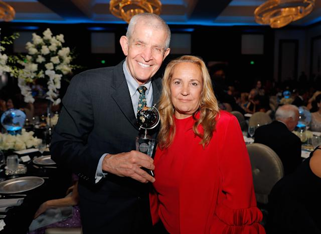 Jim McIngvale (L) and wife Linda McIngvale attend a gala event in Houston. (Photo by Bob Levey/Getty Images for UNICEF)