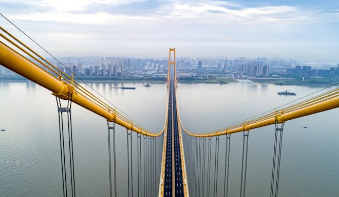 Aerial photo taken on Sept. 25, 2019 shows the Yangsigang Yangtze River bridge in Wuhan, capital of central China's Hubei Province. Photo: Xinhua