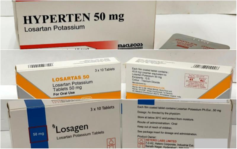 HSA recalls 3 brands of high-blood pressure medicine used by