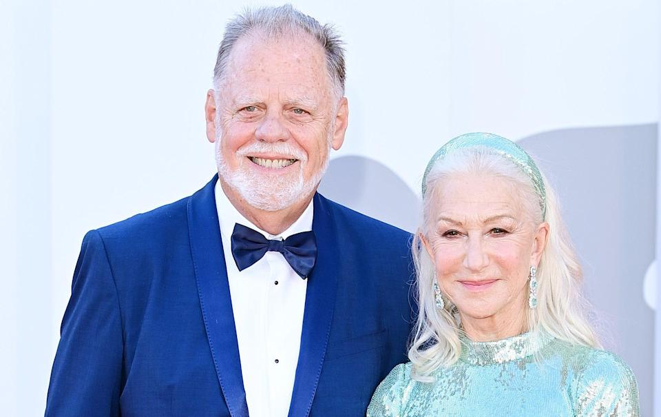 Helen Mirren and her husband Taylor Hackford at this year's Venice Film Festival - Getty Imagesa
