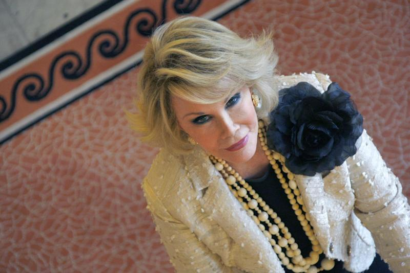 US actress Joan Rivers is pictured October 5, 2009 in Cannes, southern France (AFP Photo/Valery Hache )