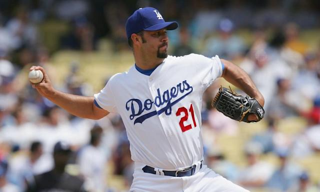 "<span class=""element-image__caption"">Esteban Loaiza during his time with the Dodgers in 2008. </span> <span class=""element-image__credit"">Photograph: Lisa Blumenfeld/Getty Images</span>"