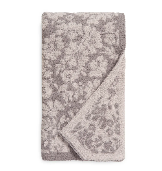 Barefoot Dreams CozyChic Floral Throw Blanket. Image via Nordstrom.