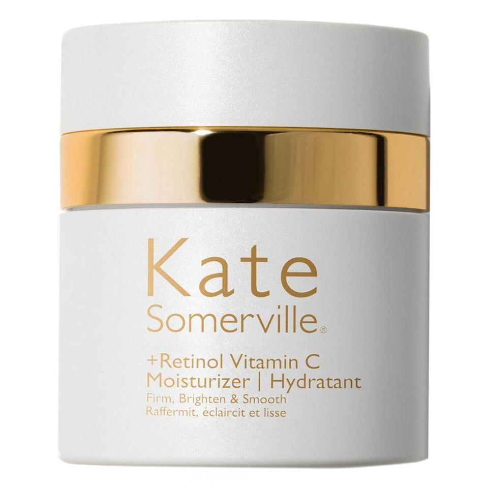 """<p><strong>KATE SOMERVILLE\u003CSUP\u003E\u003C\u002FSUP\u003E</strong></p><p>nordstrom.com</p><p><strong>$90.00</strong></p><p><a href=""""https://go.redirectingat.com?id=74968X1596630&url=https%3A%2F%2Fwww.nordstrom.com%2Fs%2Fkate-somerville-retinol-vitamin-c-moisturizer-cream%2F5282812&sref=https%3A%2F%2Fwww.redbookmag.com%2Fbeauty%2Fg35091097%2Fanti-aging-for-men%2F"""" rel=""""nofollow noopener"""" target=""""_blank"""" data-ylk=""""slk:BUY IT HERE"""" class=""""link rapid-noclick-resp"""">BUY IT HERE</a></p><p>In the interest of simplicity, this nighttime moisturizer contains both retinol and potent antioxidant vitamin C. Just make sure to use it only at night, since retinol can make your skin more sensitive to sunlight (and always wear sunscreen during the day).</p>"""