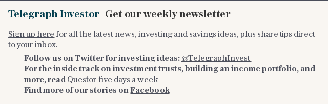 Sign up to Telegraph Investor