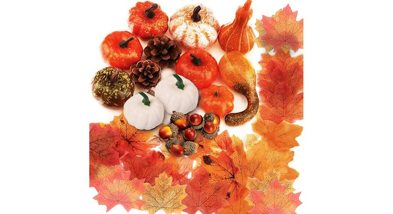 Artificial Pumpkins Autumn decoration set