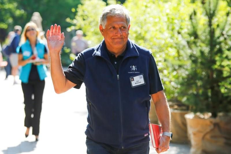 FILE PHOTO: CEO of CBS Corp, Moonves waves on the first day of the annual Allen and Co. media conference in Sun Valley