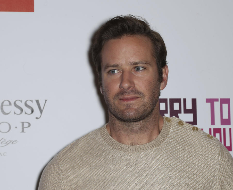 MARCH 19th 2021 - Actor Armie Hammer has been accused of rape and violent sexual assault. A 24 year- old woman identified as Effie alleges that the incident occurred in April of 2017. The Los Angeles, California police department is investigating. - File Photo by: zz/John Nacion/STAR MAX/IPx 2018 6/20/18 Armie Hammer at the premiere of