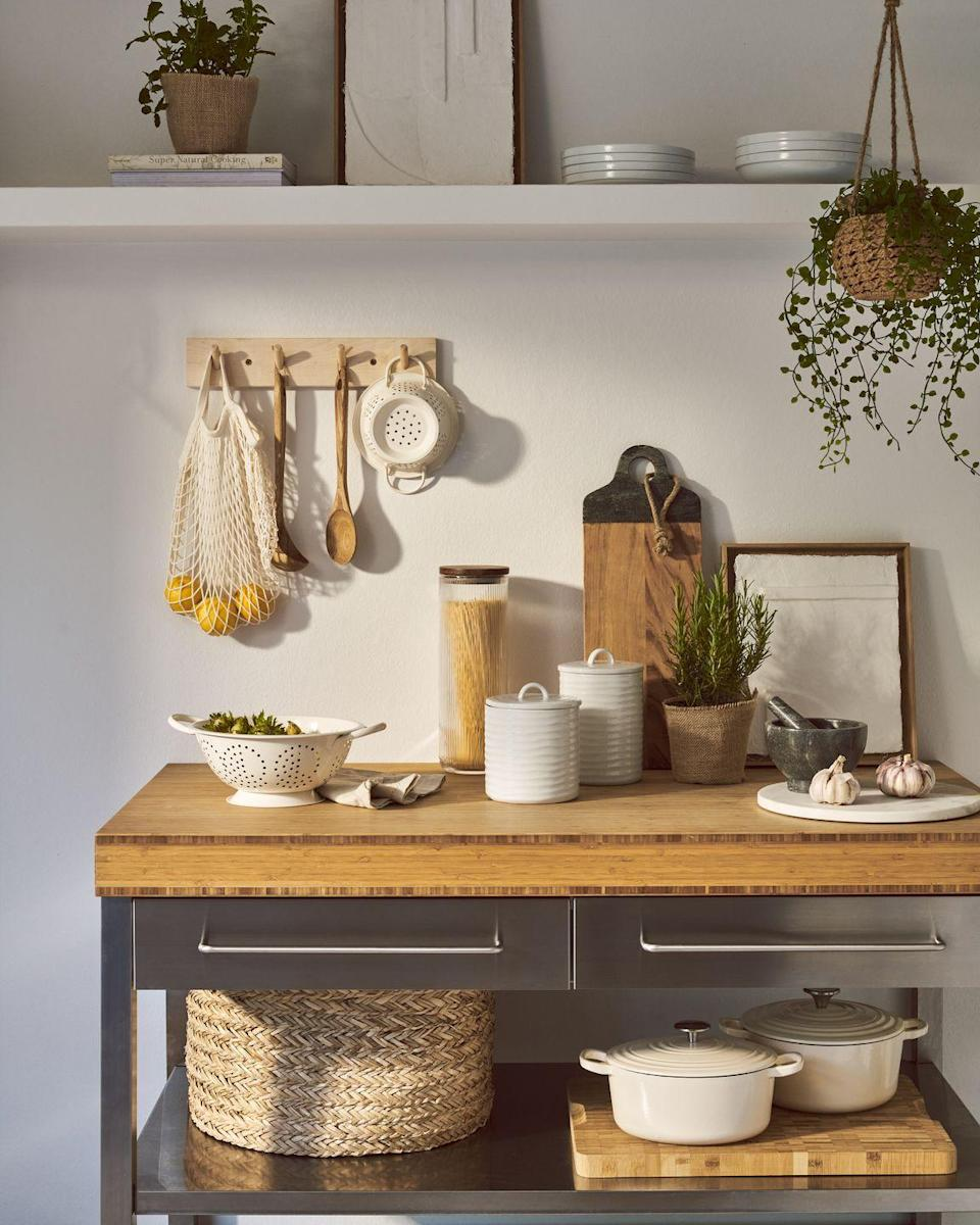 """<p>The Modern Home range exists to help homeowners create a fresh and sophisticated feel at home. You'll discover chunky woven textiles, robust ceramics, wicker <a href=""""https://www.housebeautiful.com/uk/lifestyle/storage/g31213380/storage-baskets/"""" rel=""""nofollow noopener"""" target=""""_blank"""" data-ylk=""""slk:storage baskets"""" class=""""link rapid-noclick-resp"""">storage baskets</a>, and cast-iron cookware. <strong><br></strong></p><p><strong>READ MORE</strong>: <a href=""""https://www.housebeautiful.com/uk/decorate/a32933281/decorating-hack-mad-about-the-house-kate-watson-smyth/"""" rel=""""nofollow noopener"""" target=""""_blank"""" data-ylk=""""slk:The 4-step decorating trick that works every time"""" class=""""link rapid-noclick-resp"""">The 4-step decorating trick that works every time</a></p>"""